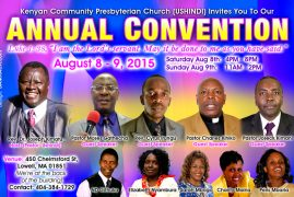 Kenyan Community Presbyterian Church (Ushindi) Annual Convention this Weekend – Worship with Us!