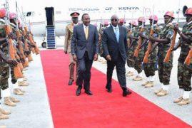 UHURU BECOMES FIRST KENYAN PRESIDENT TO VISIT SOMALIA IN 30 YEARS – PHOTOS