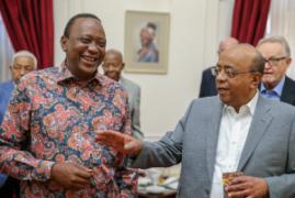Uhuru meets Mo Ibrahim Foundation delegation at State House