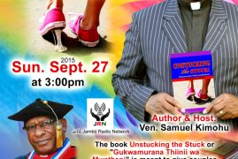Book Launch ,Sept 27th  2015 3PM;Unstucking The Stuck By Ven.Samuel Kimohu