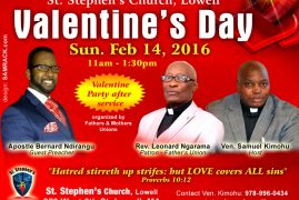 Invitation:St Stephen's Church Lowell Valentine's Day Gala