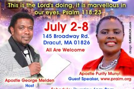 Photos/Video:Powerful Revival Meetings,Sunday July 2th – July 8th 2015 with  Apostle George Melden & Apostle Purity Munyi
