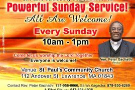 Powerful Sunday Service at St. Paul's Community Church
