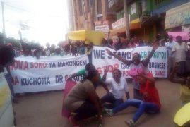 ANTI-KABOGO PROTESTS IN THIKA OVER KTN INVESTIGATIVE PIECE – PHOTOS