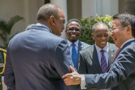 Chinese Ambassador to Kenya presents credentials to President Kenyatta