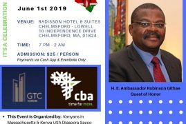 Kenya USA Diaspora Sacco to hold it's 6th Annual General Meeting in Boston from May 31st – June 1st 2019