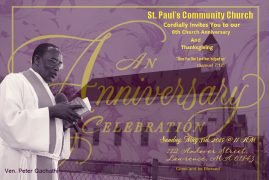 8 YEARS ANNIVERSARY & THANKSGIVING SERVICE  ST PAUL'S COMMUNITY CHURCH,LAWRENCE,MA
