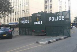 Kenyans Left Gazing by this Police Vehicle