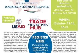 Register to Meet and Greet with KCB Group's CEO, Joshua Oigara,October 14th, 2015 at 5:30 pm@ the Westin Boston Waterfront in Boston, Massachusetts