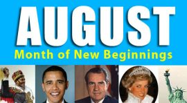 August – The month of new beginnings