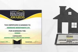 USERNAME INVESTMENT LTD BAGS THE BEST DIASPORA MARKET LAND SELLING COMPANY AWARD AT THE 2019 REAL ESTATE EXCELLENCE AWARDS