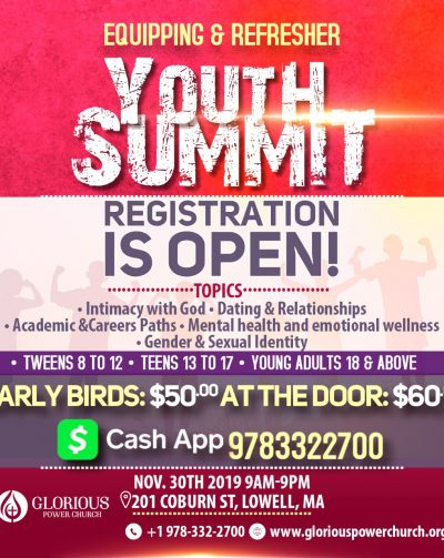 Equipping & Refresher Youth Summit30 November 2019