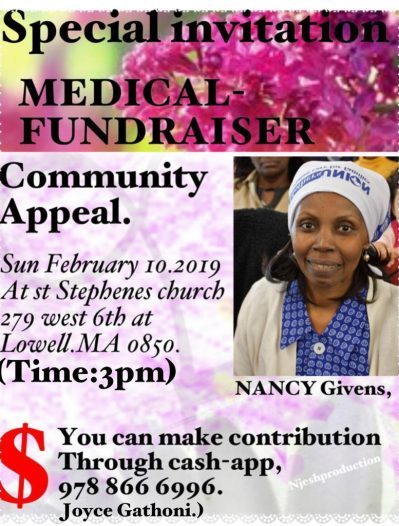 Video|Photos:Community Appeal,Major fundraising appeal for Ms Nancy Givens help offset Medical bills
