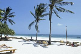 Diani Beach in Kwale,Kenya voted seventh best beach in Africa by TripAdvisor ranking