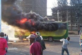 VIDEO: Citi Hoppa Bus Explodes in Traffic