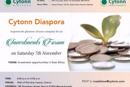 Cytonn/Boston Diaspora Investment Forum Sat 7th 2015 2Pm to 5Pm @ Well of Worship Center,Dracut,MA