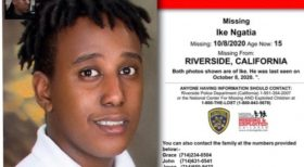 Missing Alert: Ike Ngatia Age (15) Missing 10/8/2020 RIVERSIDE.CALIFORNIA