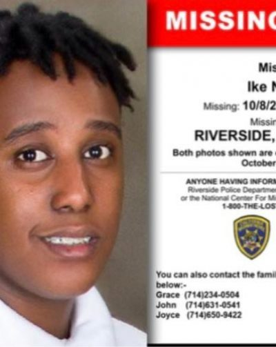 Missing Alert: Ike Ngatia Age (15) Missing 10/8/2020 RIVERSIDE.CALIFORNIA