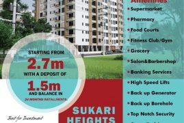 SUKARI HEIGHTS  Affordable Luxury  2 br, 3 Br plus Dsq & studio apartments