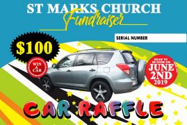 Car Raffle : Walk away with a Toyota Rav 4 for only $100 St Marks Anglican Church Fundraiser June 2 2019