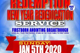 St Stephen's Church Lowell,Massachusetts Invites you to the First Born Redemption & New Year Rededication January 5th 2020 From 10:30Am to 1:30Pm All Are Invited!