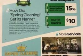 You name it;We clean it  EMPIRE CLEANERS. Contact us: (978)-655-5520 Monday – Friday 9Am to 5Pm