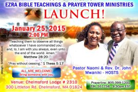 Ezra Bible Teachings & Prayer Tower Ministries Launch