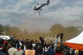 VIDEO: Kenyan Man Falls Off Helicopter