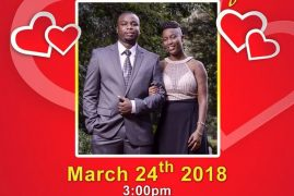 INVITATION:Peter Ruwa & Esther Ikegu Prewedding March 24th 2018 @3PM @PCEA IMANI CHURCH 117 Perry St,Lowell,Massachusetts   ALL ARE INVITED!