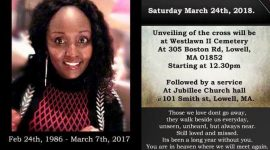 In Loving Memory: Please join us for a Memorial Service for Joan Njeri Gitau(JOJO) Sat March 24th 2018 @12:30pm