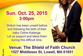 Friends of Grace Shikoh & Olivier Katanga:Prayer & Financial Support Fellowship Sun.Oct.25,2015 3:00pm