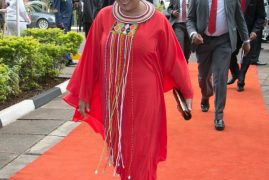 Kenya First Lady Margaret Kenyatta Steals the Show with Elegant Red Attire