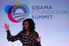 The Obamas end Chicago summit for youth leaders (Video)