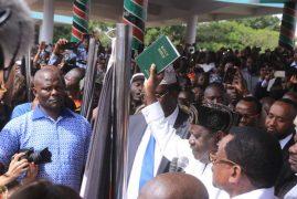 Raila takes 'oath'