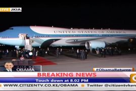 Video – Obama, POTUS Lands in Kenya