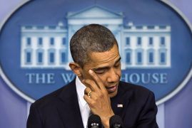 Obama voices anger over Oregon shooting, urges gun control