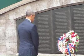VIDEO:President Obama Heads To The Bomb Blast Memorial