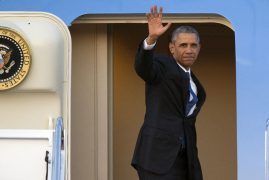VIPs denied chance to wave President Obama bye