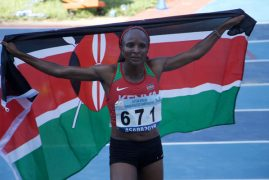 Gold at last! Obiri obliterates 5000m field in Asaba