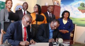 The largest Sacco based in the US signs an agreement with Optiven Kenya for Kenyans living abroad