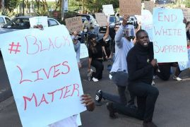 Protesters rally outside US embassy in Nairobi over George Floyd's death