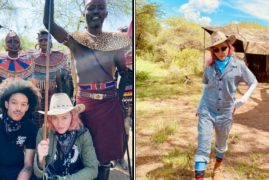 American Queen of Pop Madonna Visits Kenya with Boyfriend Ahlamalik Williams