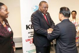 President Uhuru Kenyatta (pictured) arrived back in the country yesterday morning after a working tour in Singapore and USA