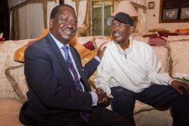 Raila Visits Frail-Looking Billionaire Businessman Chris Kirubi at His Home in Nairobi (Video)