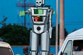 The Congo's Solar-Powered Robot As Traffic-Controller