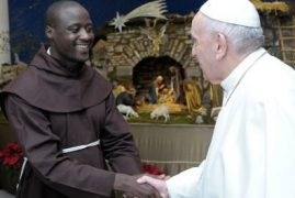 World's 'best teacher' Peter Tabichi meets Pope Francis in Rome