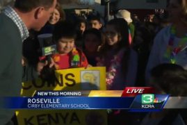 Video:Roseville students collect coins for Kenya