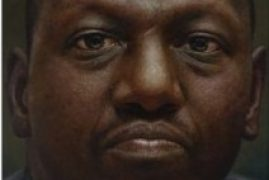 William Ruto portrait on sale in New York