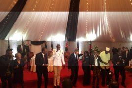 US President Barack Obama dances to Sauti Soul's song, charms guests at State House