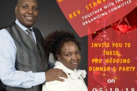 Invitation Pre-Wedding party Dinner & Party :Ms Susan Kangethe & Rev Stanley Mwea  May 19 2018 @ 4PM @ PCEA NEEMA 201 Coburn St Lowell,Massachusetts